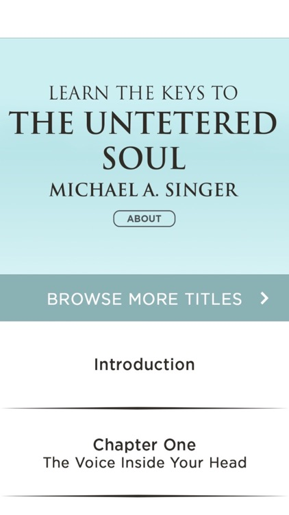 The Untethered Soul - Michael A Singer Meditations