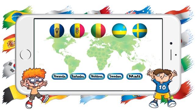 çocuklar Için ülke Bayrakları Yarışması Oyunu App Storeda