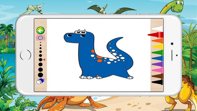 Dinosaur Coloring For Kids - Dinosaurs Coloring