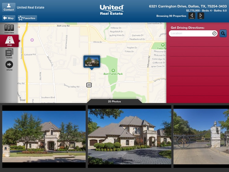 United Real Estate for iPad