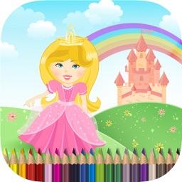 Kids Coloring Book Princess - Free Girls Drawing