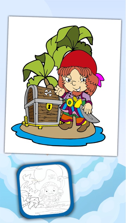Paint and Color Pirates –coloring book screenshot-3