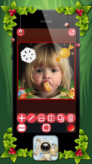 download Marcos de Fotos de Navidad con Pegatinas Navideñas apps 0