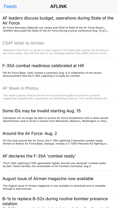 Air Force News - A News Reader for Members, Veterans, and Family of the US Air Force screenshot four