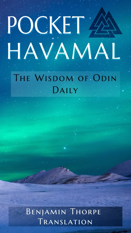 Pocket Havamal - Daily Asatru Meditations of Wisdom from Odin - Thorpe Translation