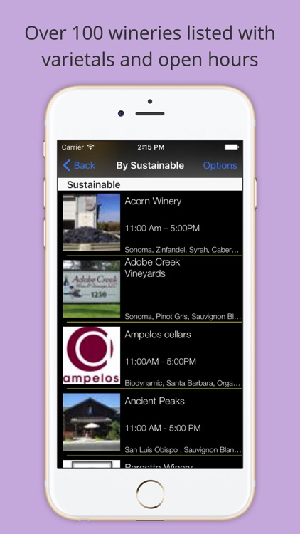 Organic, Biodynamic and Sustainable Wineries of CA screenshot-1