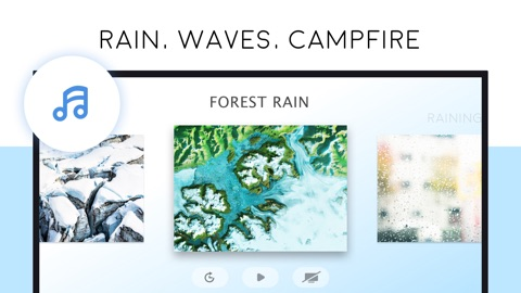 Free Relaxing Nature Sounds: Rain Fireplace Forest | App Price Drops