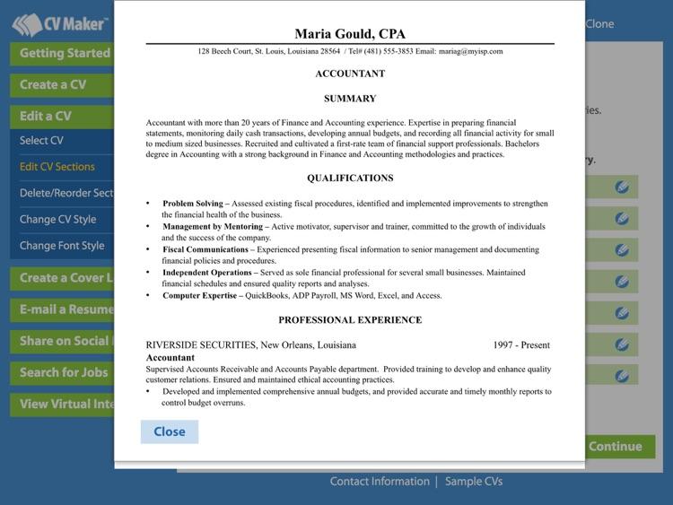 CV Maker™ Platinum screenshot-3