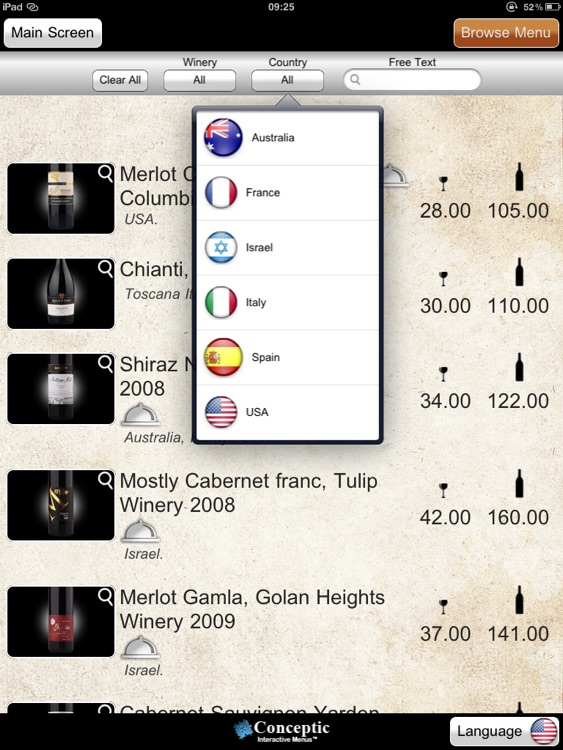 eMenu wine list screenshot-4