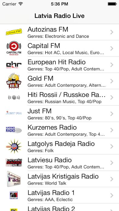 Latvia Radio Live Player (Latvian / Latvija / latviešu valoda) screenshot three