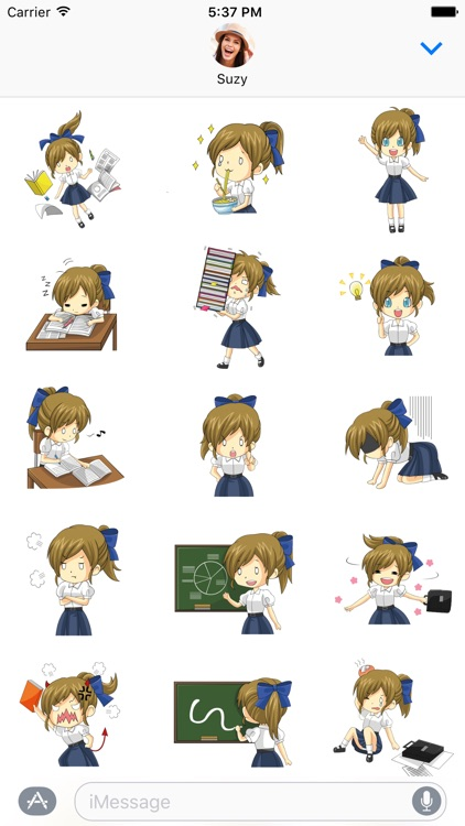 Cute Anime Girl Stickers