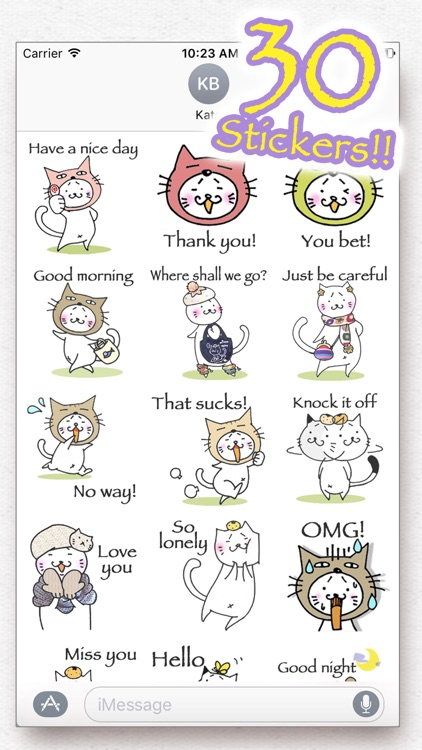 Kitty Cat Mayuneko Stickers Free