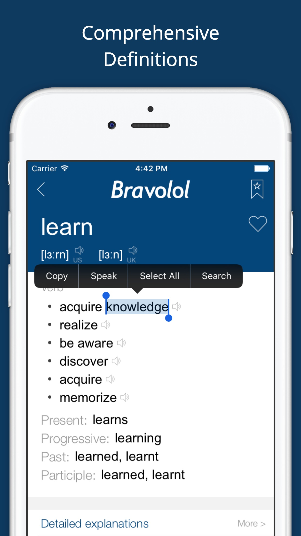 English Dictionary & Translator - Bravolol Screenshot
