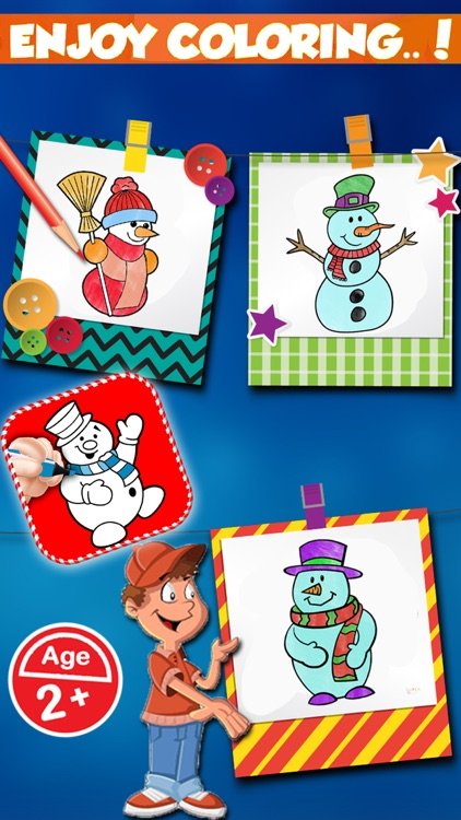 Christmas Snowman Coloring Book - Coloring Pages