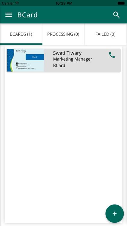 BCard Business Card Reader screenshot-3