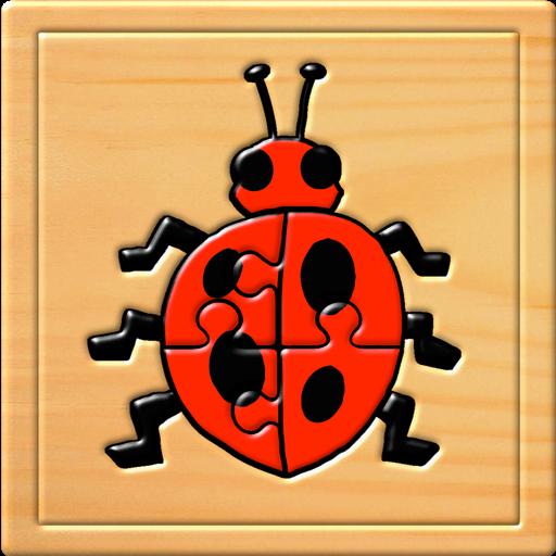 Дети насекомых головоломки и игра памяти