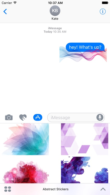 Abstract Stickers For iMessage