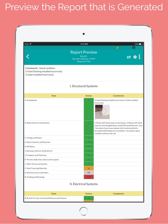 HomeInspeKtor On The App Store - Free plumbing invoice template cricket store online