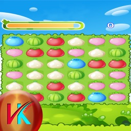Match 3 Fruits Garden Match Puzzle