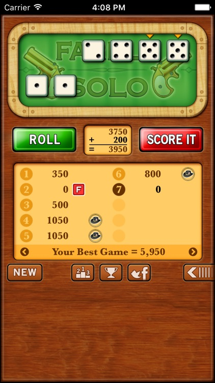 Farkle Solo - Free screenshot-1