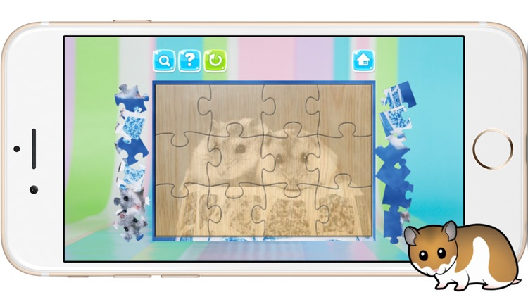 Hamster Jigsaw Puzzles Games for Kids and Toddlers screenshot-3