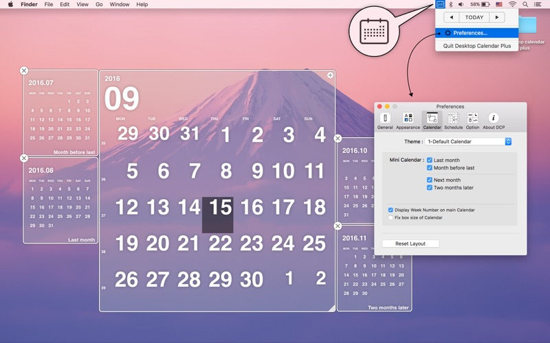 Desktop Calendar Plus iPhone