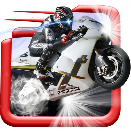 A Motorbike Rival In Race - Powerful High Speed Driving