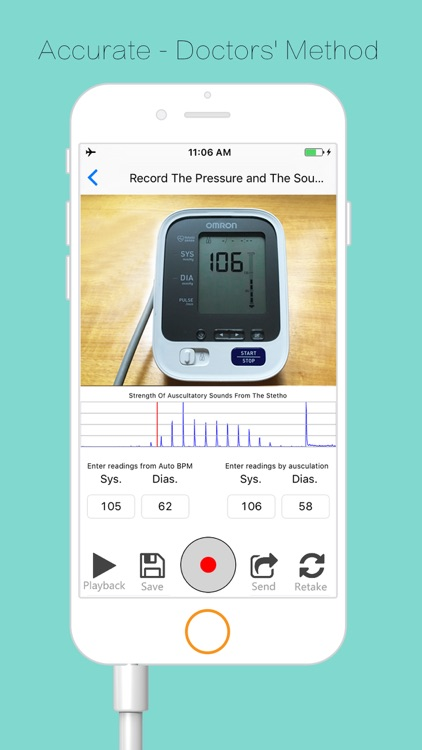 Check blood pressure monitor w/ Accutension Stetho