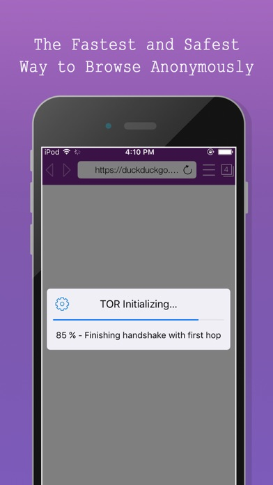 TOR-Powered Onion Web Browser - Anonymous Browsing app image