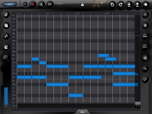 Genome MIDI Sequencer Screenshot