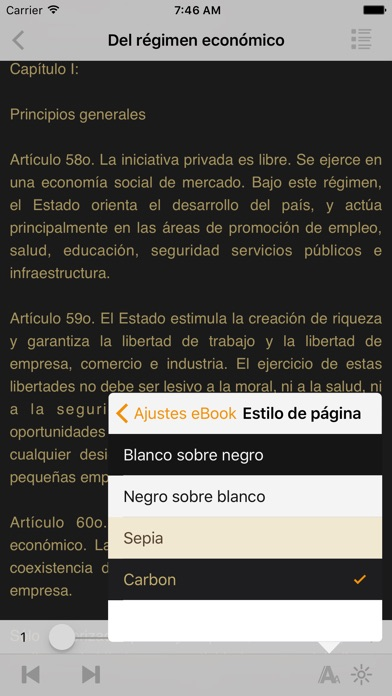 Screenshot for Constitución del Perú in Azerbaijan App Store