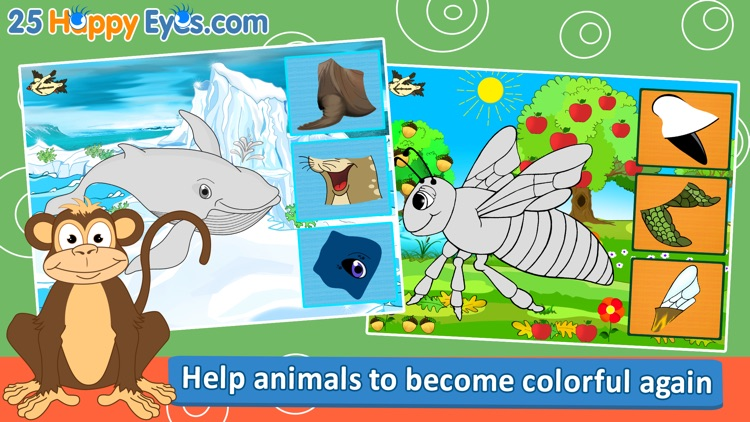 Joyful Animals for Kids - puzzle game for children