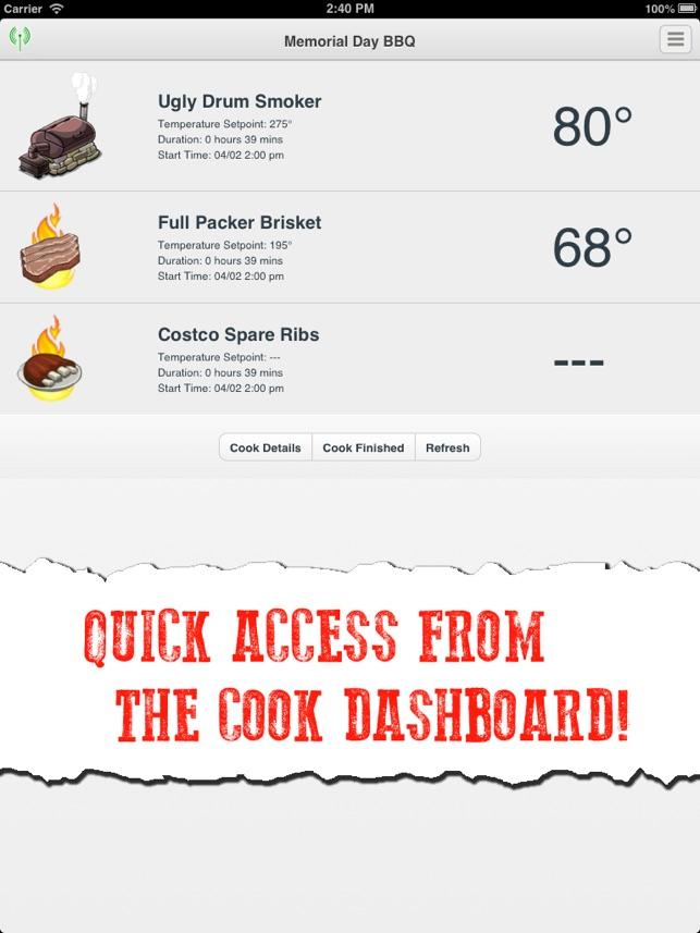 The Pit Pal BBQ App Screenshot