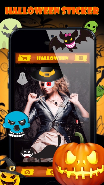 Halloween Emoji Stickers - Face Photo Makeup Games screenshot-3