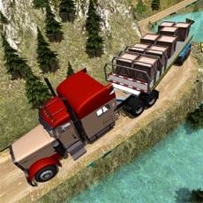 Activities of Trailer Truck Off Road Driving