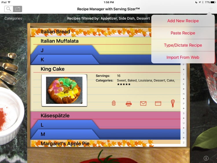 Recipe Manager - Serving Sizer