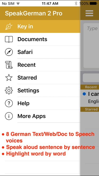 SpeakGerman 2 FREE (8 German Text-to-Speech) screenshot-0