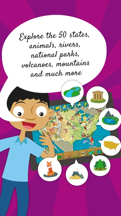 Kids US Atlas - United States Fun Geography Games