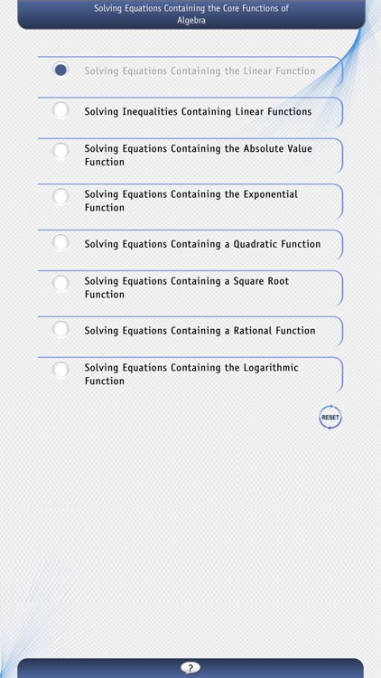 Solving Equations Containing the Core Functions