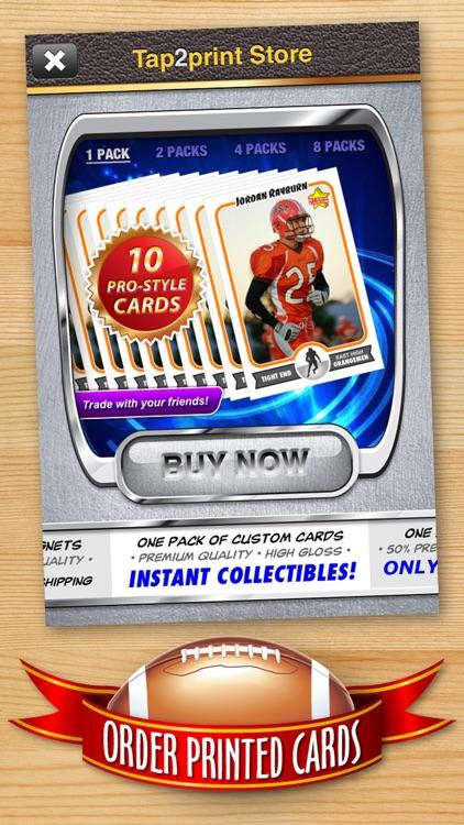 Football Card Maker - Make Your Own Starr Cards screenshot-4