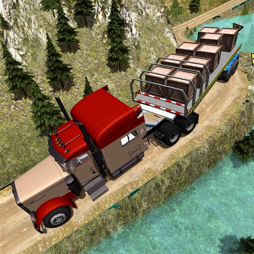 Trailer Truck Off Road Driving