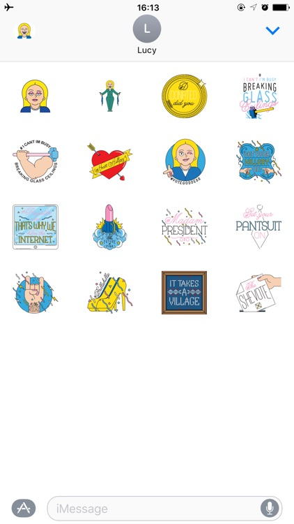 Emoji Stickers for Hillary Clinton