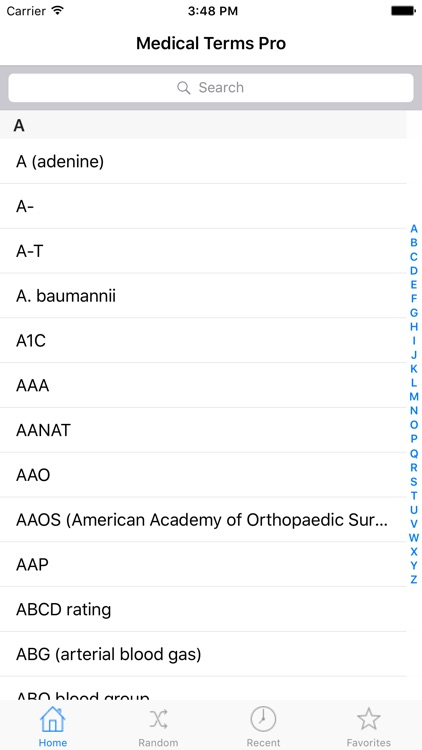 Medical Terms for iPad