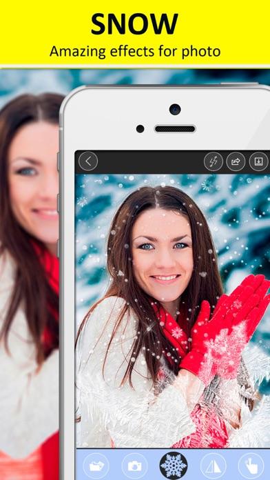 Snow camera - Christmas photo editor free
