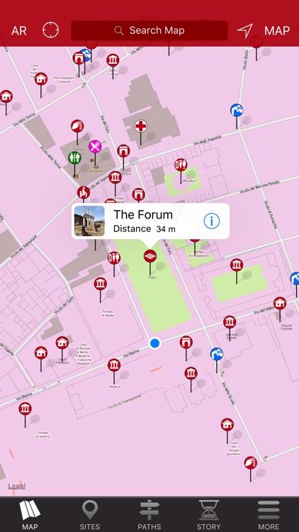 Pompeii Map - Offline Travel Guide screenshot-4