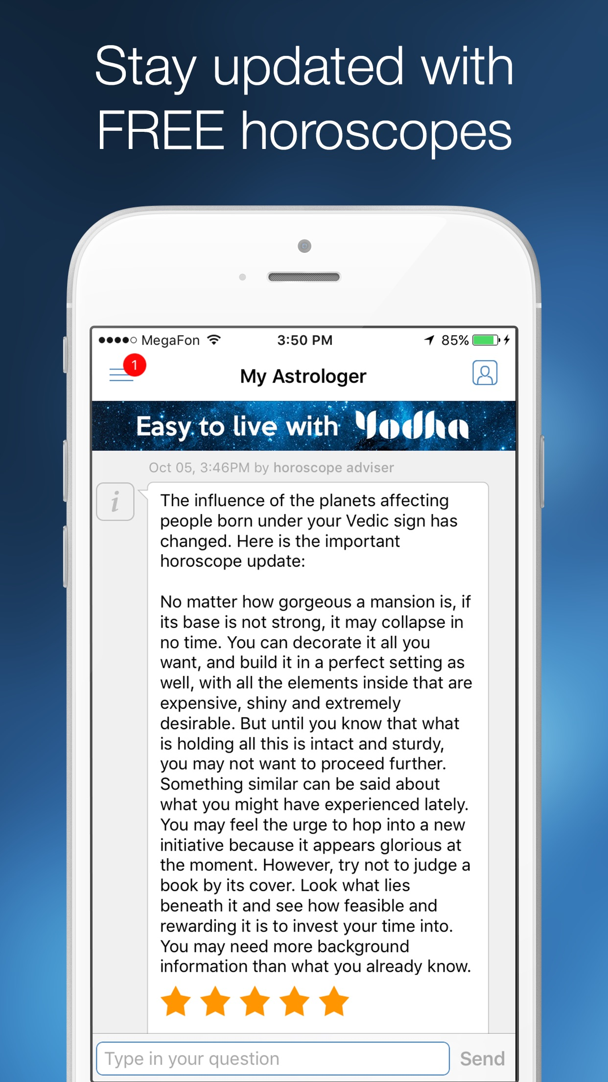 Yodha Love Astrology Horoscope Vs Daily Horoscopes Screenshot