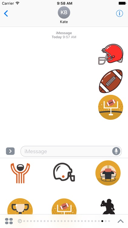 American Football Stickers For iMessage
