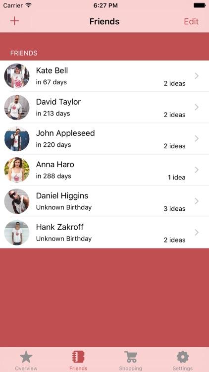 Gift Idea Lite - Wish List