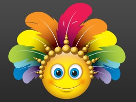 Carnival Smileys stickers pack for iMessage