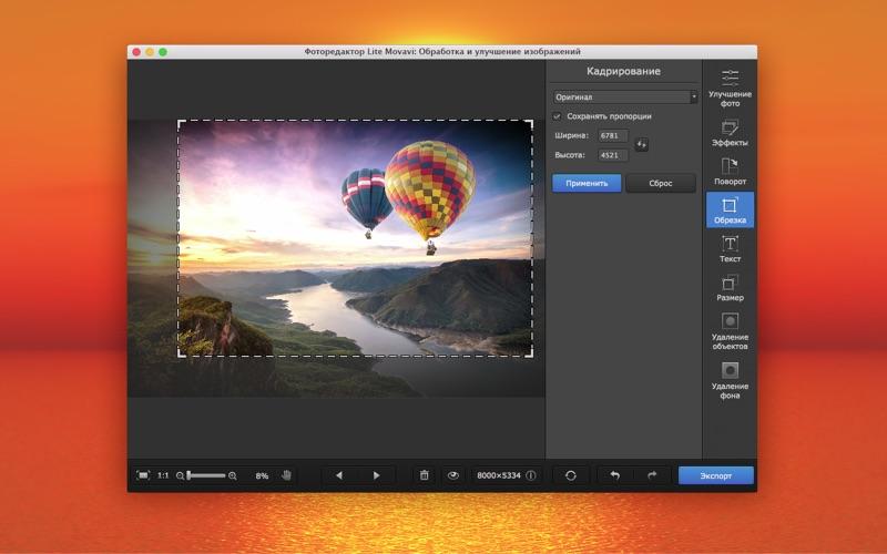 Фоторедактор Lite Movavi: Улучшение изображений скриншот программы 4